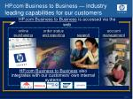 hp com business to business industry leading capabilities for our customers