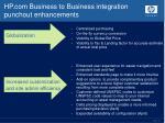 hp com business to business integration punchout enhancements