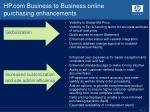 hp com business to business online purchasing enhancements