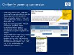 on the fly currency conversion
