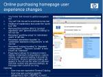 online purchasing homepage user experience changes1