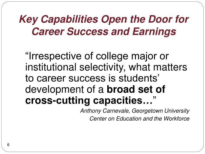 Key Capabilities Open the Door for
