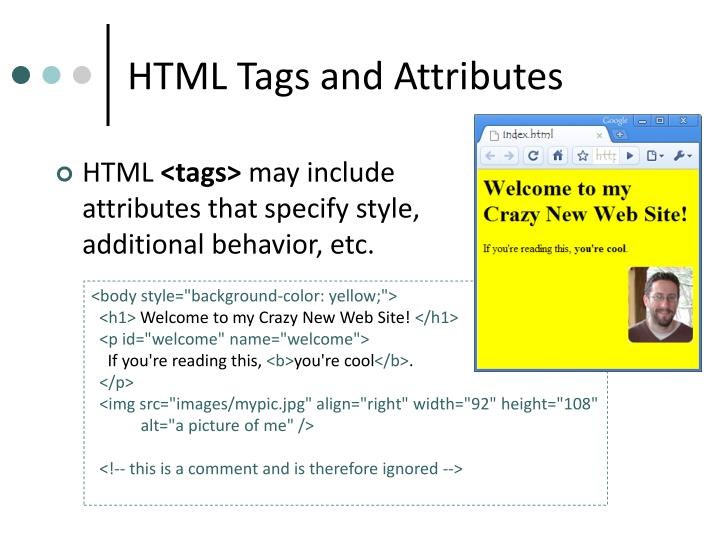 HTML Tags and Attributes