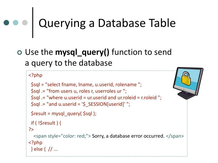 Querying a Database Table