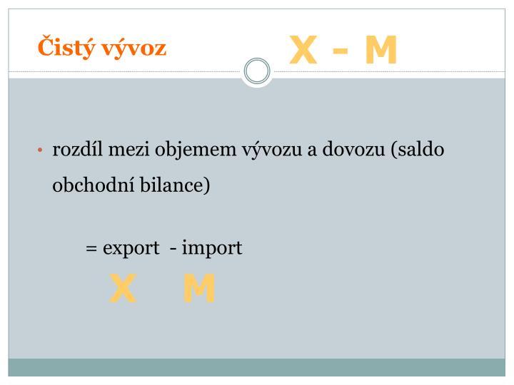 Čistý vývoz