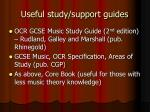 useful study support guides