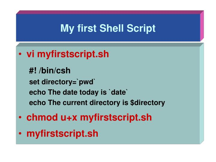 My first shell script