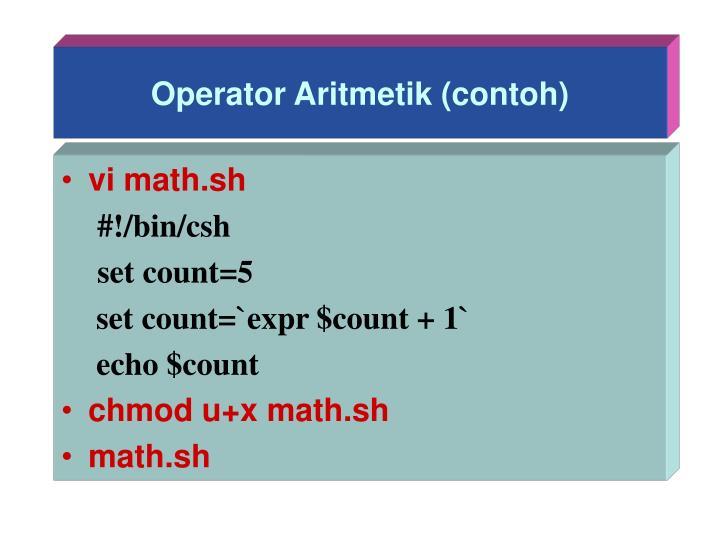 Operator Aritmetik (contoh)
