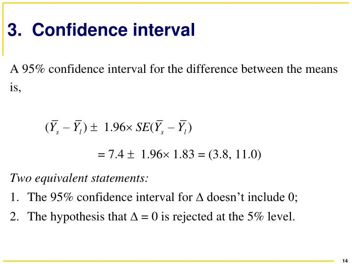 3.  Confidence interval