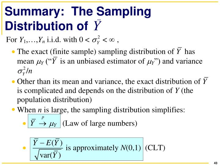 Summary:  The Sampling Distribution of