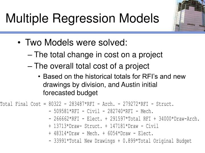 Multiple Regression Models