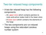 two tier relaxed heap components