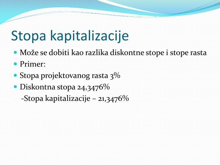 Stopa kapitalizacije