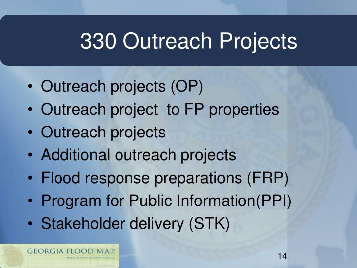330 Outreach Projects