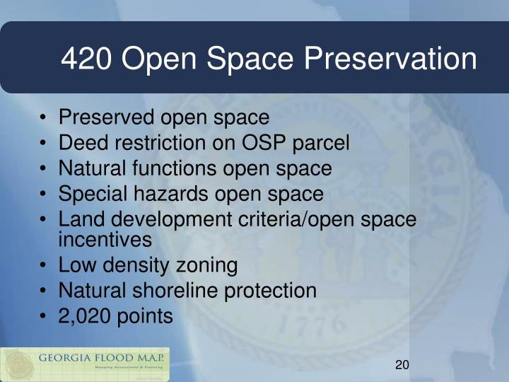420 Open Space Preservation