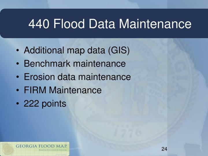 440 Flood Data Maintenance