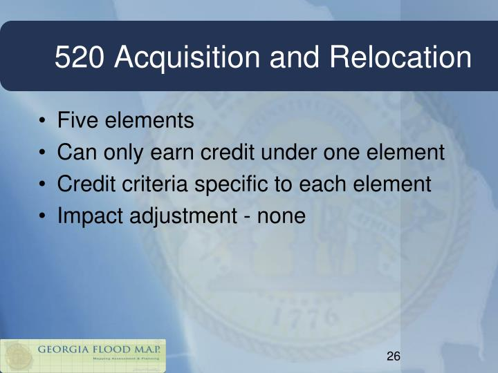 520 Acquisition and Relocation