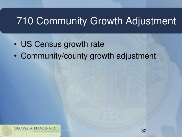 710 Community Growth Adjustment