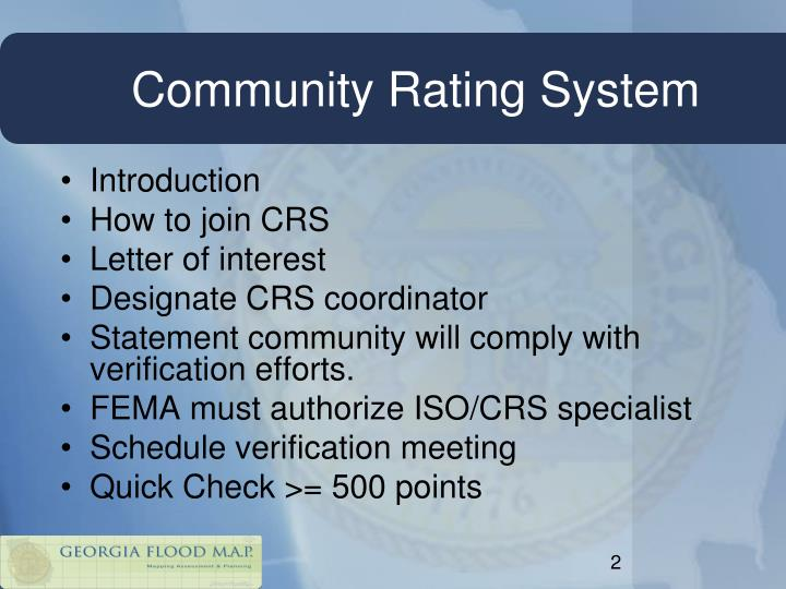 Community rating system
