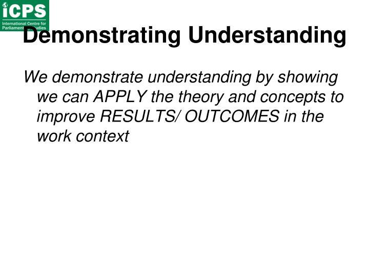 Demonstrating Understanding