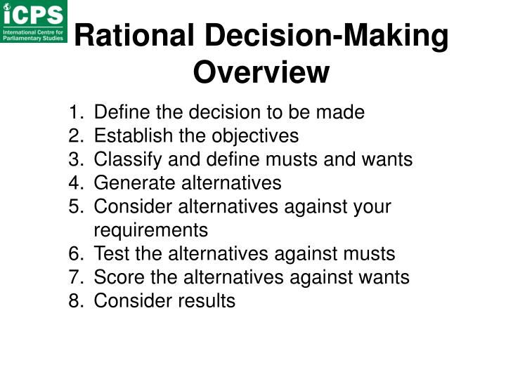 Rational Decision-Making Overview