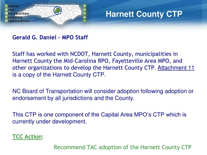 Harnett County CTP