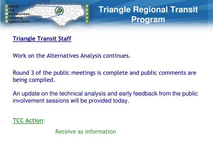 Triangle Regional Transit Program