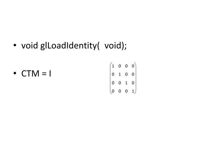void glLoadIdentity(  void);