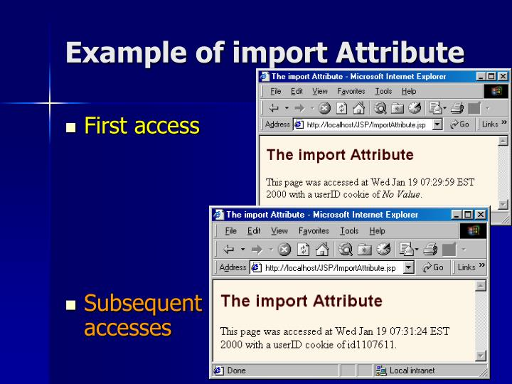 Example of import Attribute