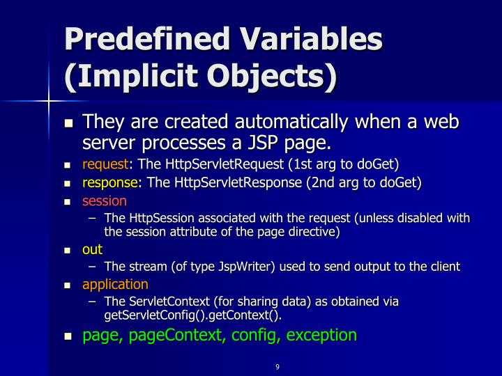 Predefined Variables