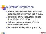 australian information
