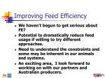improving feed efficiency