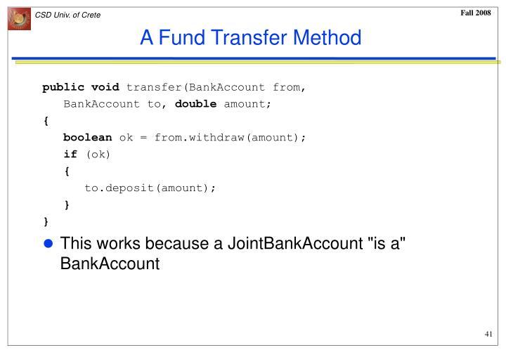 A Fund Transfer Method