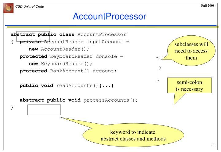 AccountProcessor
