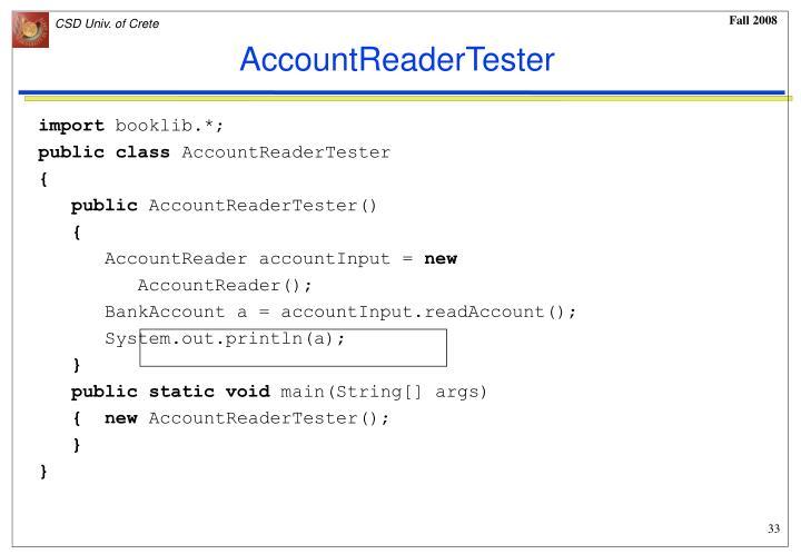 AccountReaderTester