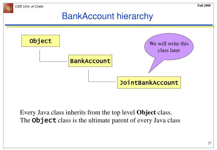 BankAccount hierarchy