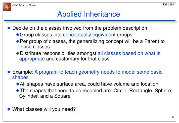 Applied Inheritance
