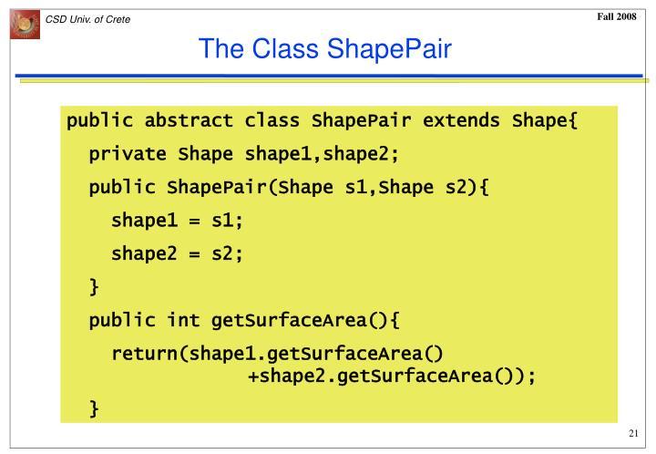 The Class ShapePair