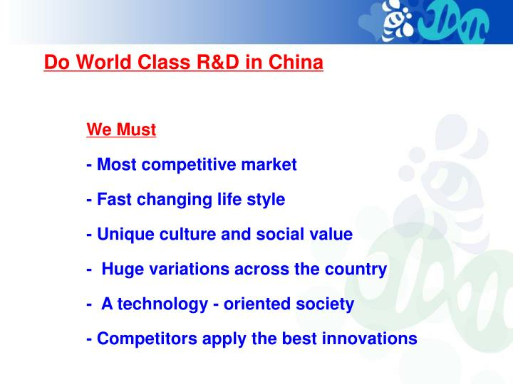 Do World Class R&D in China