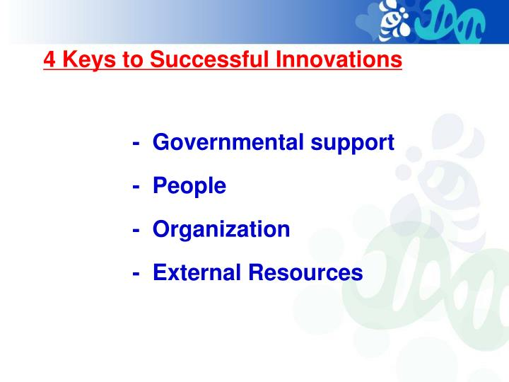 4 Keys to Successful Innovations