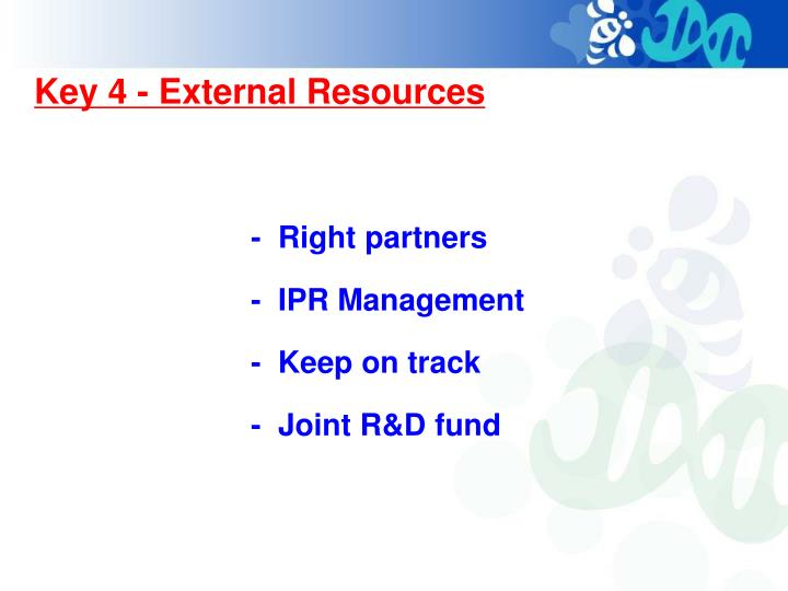 Key 4 - External Resources