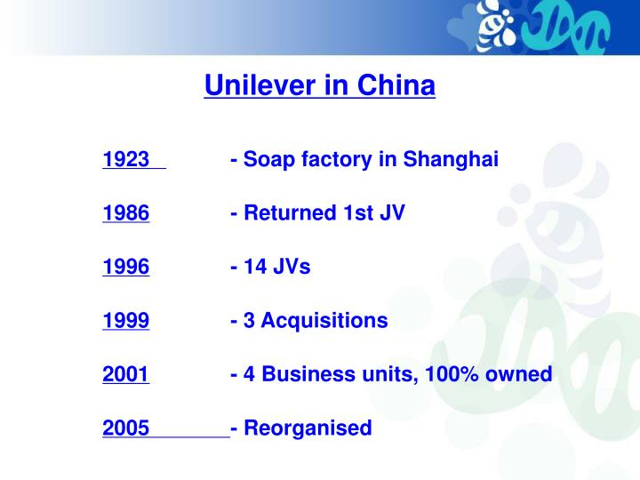 Unilever in China