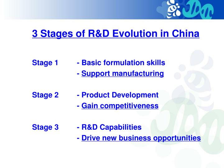 3 Stages of R&D Evolution in China