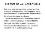 purpose of walk throughs