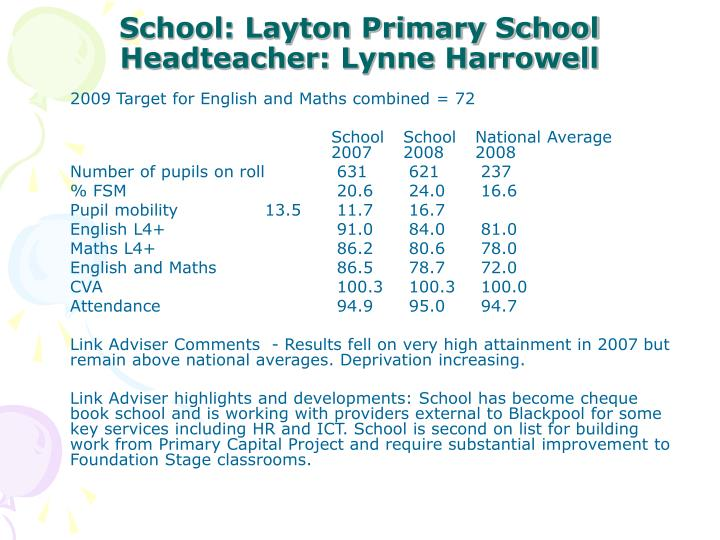 School: Layton Primary School