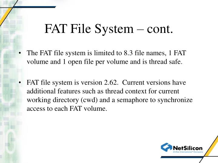 FAT File System – cont.