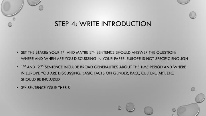 Step 4: Write Introduction