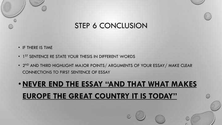 Step 6 conclusion