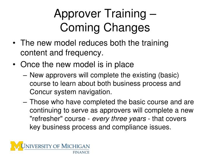 Approver Training –
