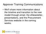 approver training communications